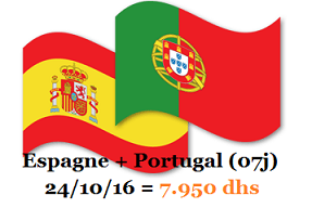 voyage organise Portugal Espagne (07jours)